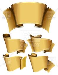 gold ribbons collection of gold ribbons or scrolls royalty free vector clip