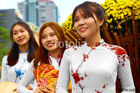 asian people beautiful happy smiling women girls friends