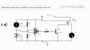 Solar Street Light Circuit Diagram by Automatic Street Light Controller Using Relays And Ldr Youtube