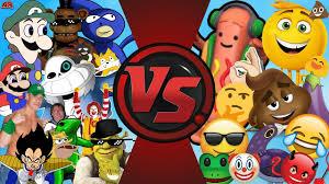 Meme Vs Meme - memes vs emojis mlg and youtube poop vs the emoji movie cartoon
