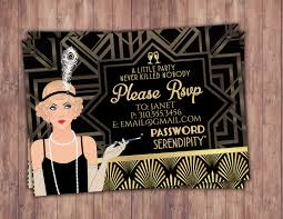 great gatsby birthday invitation rsvp card roaring 20 u0027s