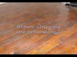interior wood floor stripping sanding refinishing