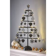 metal charm light up christmas tree room decorations asda