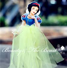 Tutu Party Decorations Double Print Snow White Princess Cake Toppers Cupcake Accessory