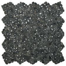 12 x12 mini charcoal black pebble tile contemporary mosaic