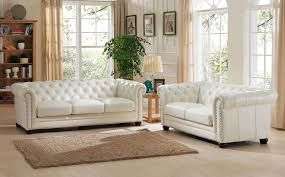 Beige Leather Living Room Set Monaco Pearl White Leather Living Room Set From Amax Leather