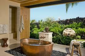 Tropical Bathroom Decor by Outdoor Bathroom Decor With Outdoor Bathroom