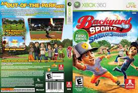 Backyard Sport Games Backyard Sports Sandlot Sluggers Xbox 360 Game Covers Backyard