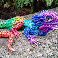 Bearded Dragon Halloween Costume Rainbow Bearded Dragon Makoslacreations Etsy