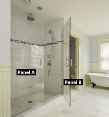 Hinged Glass Shower Door Frameless Glass Shower Door Installation How To Install On Tile