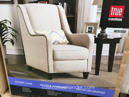 true innovations fabric accent chair costco weekender
