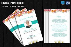 Funeral Invitation Cards Funeral Prayer Card Template Card Templates Creative Market