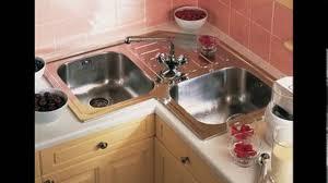 Design Of Kitchen Sink Small L Shaped Kitchen Design Corner Sink Youtube