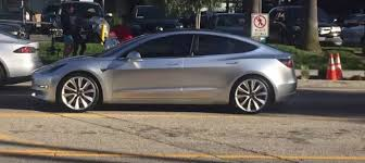 tesla model 3 spied during commercial shoot video