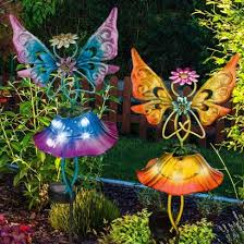 solar flower garden stake light