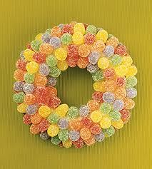 candy wreath candy christmas wreaths
