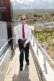 Blind Man Cane Blind Man With Walking Stick Stock Photo 182735817 Istock
