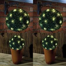 solar power 28cm topiary sphere ball 20 leds lights garden hanging