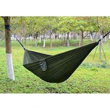 single u0026 double camping hammock with tree straps portable
