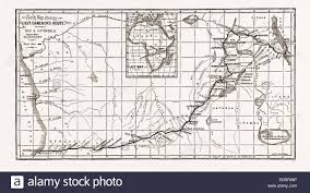Map Of Central Africa by Lieutenant Cameron U0027s Map Of Central Africa Showing His Line Of