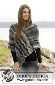 drops design poncho better days drops 157 51 free crochet patterns by drops design
