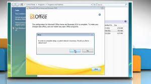 repair microsoft office 2010 to fix installation problems on