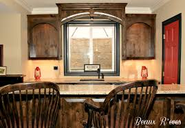 Knotty Hickory Kitchen Cabinets Knotty Alder Wood And Stained With A Custom Mixture Of Minwax