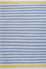 blue and white stripes rug nordic home detail