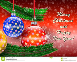 merry and happy new year greetings card royalty free