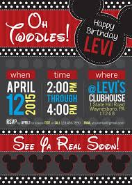 mickey mouse birthday invitations for children party xyz