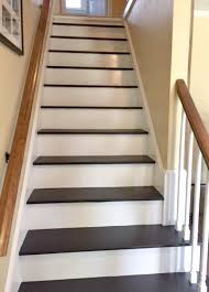 Painting A Banister Black To Remove Carpet From Stairs And Paint Them