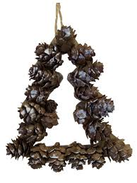 mini pine cone tree hanging decoration 10cm christmas
