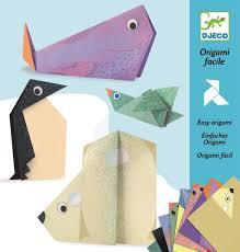 djeco easy polar animal origami kids 3d origami projects