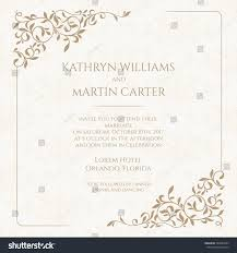 Invitation Card Marriage Invitation Card Floral Seamless Pattern Wedding Stock Vector