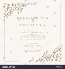 Wedding Invitations Hotel Accommodation Cards Invitation Card Floral Seamless Pattern Wedding Stock Vector
