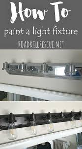 How To Change Light Fixture In Bathroom Trash To Treasure How To Paint A Bathroom Light Fixture Lights