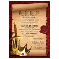 Birth Ceremony Invitation Card Fantasy Knight Bar Mitzvah Invitation Medieval