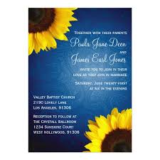 Sunflower Wedding Invitations Royal Blue U0026 Sunflower Wedding Invitation Zazzle Com