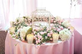 pink white gold wedding birdcage table decoration ideas cultural pink white gold new