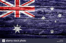 Australia Flags Australia Flag On Old Background Retro Effect Close Up Stock