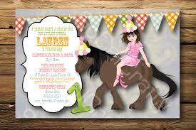 horse party invitations blueklip com