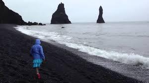 Sand Beach by Black Sand Beach Near Vik Iceland 2 Youtube