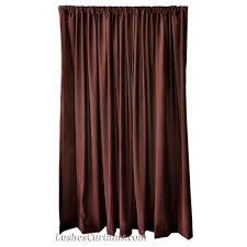 12 Foot Curtains 12 Ft High Flocking Velvet Curtains 144 Inch Brown Custom Drapes