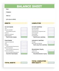 Excel Balance Sheet Template by Blank Balance Sheet Template Excel