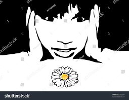 child who observes stock vector 51893599