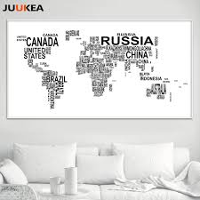 Black And White World Map Popular World Map Canvas Buy Cheap World Map Canvas Lots From