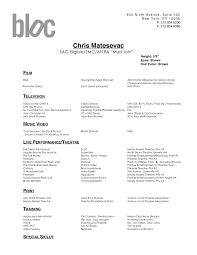 Resume Formats Samples Dance Resume Format Template Design
