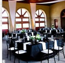 Black And White Centerpieces For Weddings by Black And White Wedding Decor With Lace Patterned White Hoods On