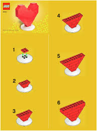 easy lego patterns instructions for lego 40004 lego heart