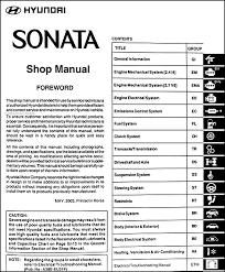 2007 hyundai sonata weight 2004 hyundai sonata repair shop manual original